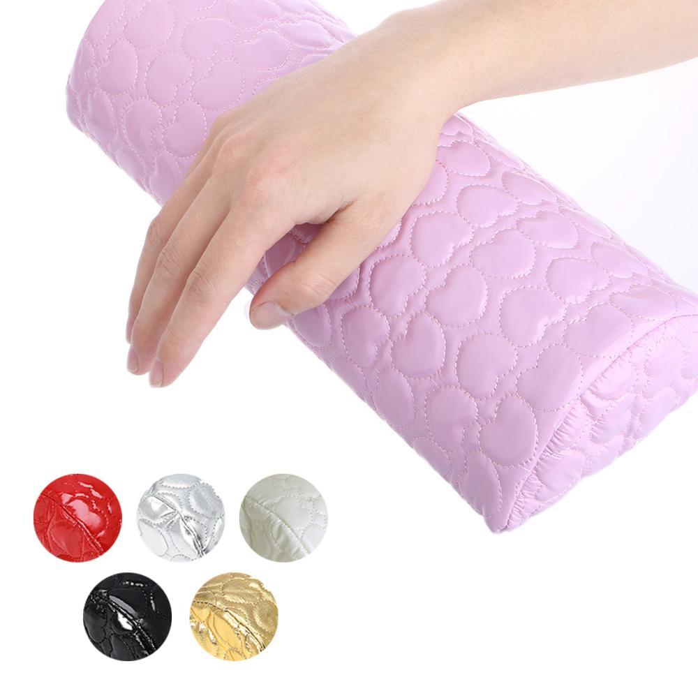 Hand Arm Rest Semicircle Cushion Pillow Nail Art Design Manicure Care
