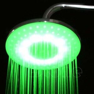 """Image 4 - Stal nierdzewna 8 """"calowy RGB LED deszczownica głowy łazienka Dls HOmeful"""
