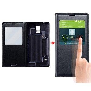 Image 5 - Cassa Del Telefono Del Cuoio Della Copertura di vibrazione Smart View Per Samsung Galaxy S5 SV S 5 G900A G900I G900F G900 G900H G900FD SM G900F SM G900H Caso