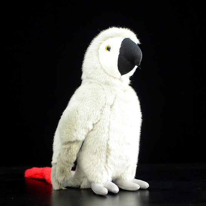 12 Lifelike Handcrafted African Grey Parrot Plush Toys Kawaii Macaw Plush Dolls Simulation Animal Stuffed Toys Gifts For Kids