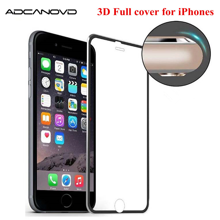 Screen Protector For Iphone 7 8 6 6s Glass On IPhone Xr X Xs Max 3d Aluminum Protective Glass For Iphone 5s Se 8 7 6 6s Plus