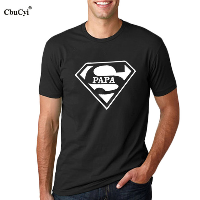 d97c02d3 Super Papa T-shirt Fathers Day Gift New Dads Funny T Shirt Best Dad tshirt  Mens Hipster Slogan Tee shirt homme