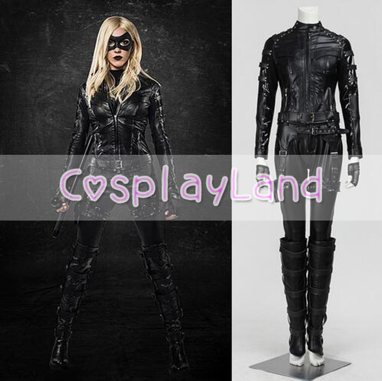 Green Arrow Black Canary Laurel Sexy Costumes Cosplay Dinah Lance Outfit For Halloween Party Adult Women Cosplay Custom Made