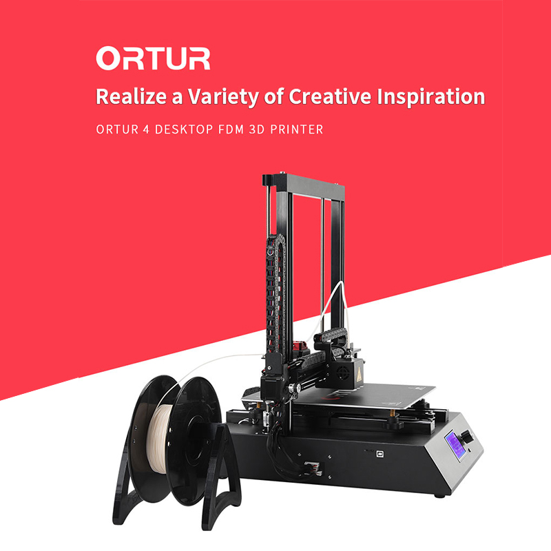 New Invention 2019 Ortur4 Overheating Protection Imprimante 3d 25 Points Hotbed Autoleveling 3d Drucker Resume Print 3d Printer 1