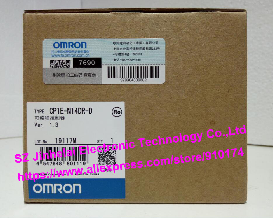 New and original CP1E-N14DR-D OMRON PLC controller cp1e e30sdr a new and original omron plc controller