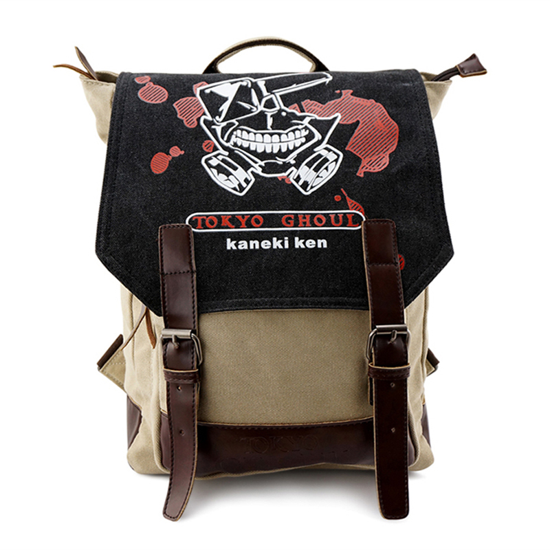 2017 Anime Tokyo Ghoul Ken Kaneki Washed Canvas Printing School Bags for Teenagers Fashion Laptop Rucksack Jan Leisure Backpack 2017 anime cartoon tokyo ghoul bag kaneki ken school bags travel durable teenager school tokyo ghoul cosplay backpack