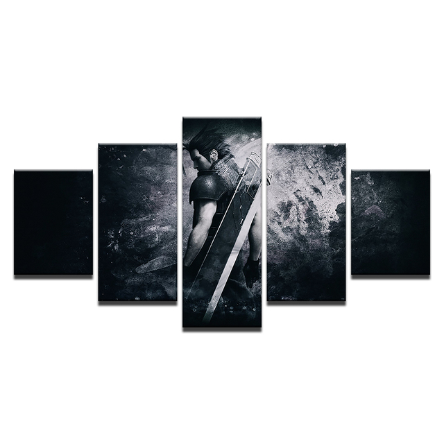 Canvas Modern Frame Home Decor Wall Art Poster 5 Panel Game Final Fantasy Character Living Room Modular Print Pictures Painting 3