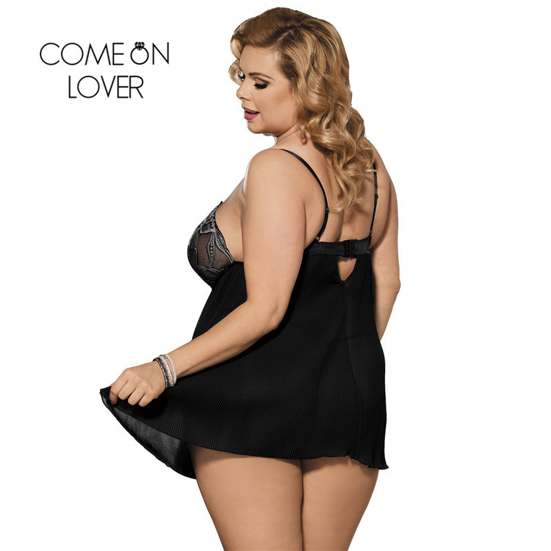 Comeonlover Women Lingerie Plus Size Lace Dessous sexy Transparent Erotic Costume Lenceria Erotica Mujer Sexi Babydoll RI80318 1