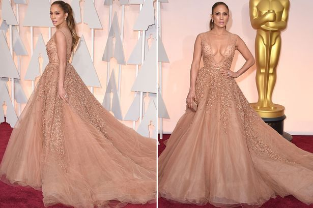 2016 New Hand-Beaded Embroidered Lace Red Carpet Dresses Sexy Deep V-neck and V-Back Jennifer Lopez Dress Party Evening