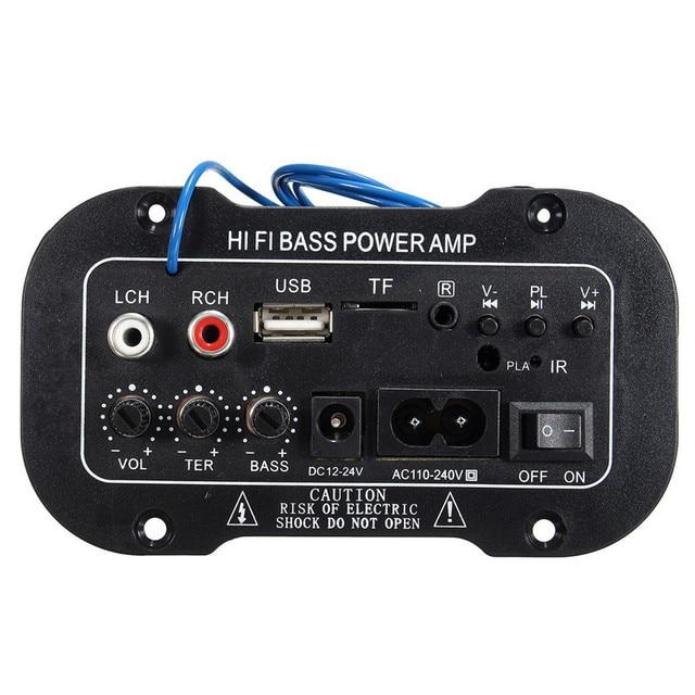 30W Amplifier Board Audio bluetooth Amplificador USB dac FM radio TF Player  Subwoofer DIY Amplifiers For MotorcycleCarHome