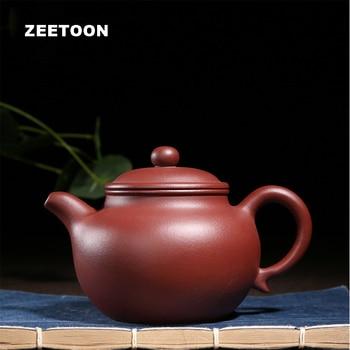 350cc Authentic Yixing Teapot Duo Qiu Pot Chinese Health Master Handmade Purple Clay Jujube Red Mud Kung Fu Tea Set Tea Pot New