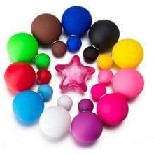 Dvoustranné kulaté náušnice ze silikonu pro ženy, 11 barev na výběr