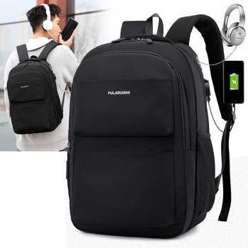 Men Women Backpack School Bag Waterproof Nylon New Schoolbag Business Polyester Bag 14 Shoulder Bags 15.6 inch Computer Packsack - DISCOUNT ITEM  33% OFF All Category