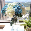 Деревенский 8 искусственний цветок винтажный искусственний цветок цветок из шёлка ракушки большие гортензия