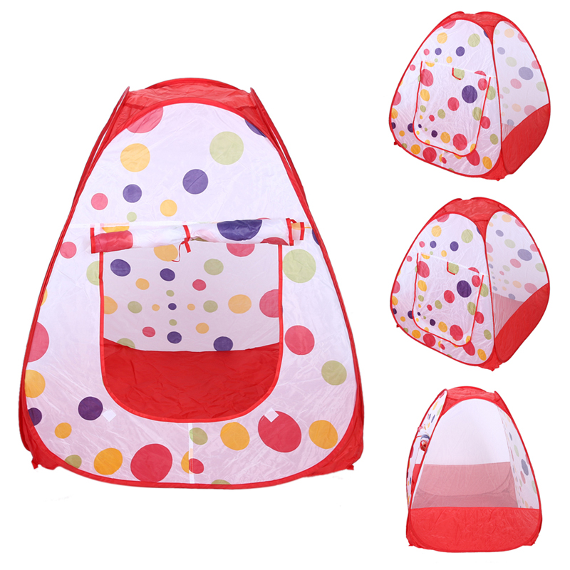 Large Portable Children Game House Toy Tent Indoor Outdoor Garden Beach Play House Folding Kids Ocean Ball Playing Tent new arrival indoor outdoor large children s house game room children s toys 3 in 1 square crawl tunnel folding kid play tent