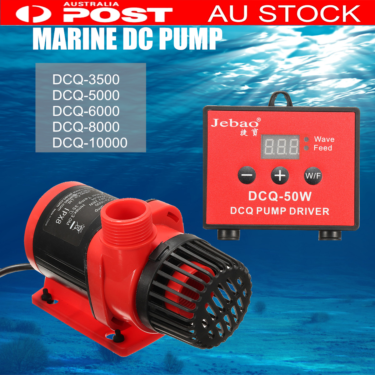 Jebao Jecod DCQ Submersible Water Pump Fish Tank Circulating Aquarium 28/40/45/65/80W 3M 5.5M 3500L/H 10000L/H Filter