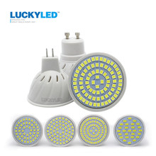 Luckyled Merk Led Spotlight MR16 GU10 3W 4W 5W 6W Smd 2835 5730 Ac 220V led Gloeilamp Warm/Cool White Energiebesparing Bombillas(China)
