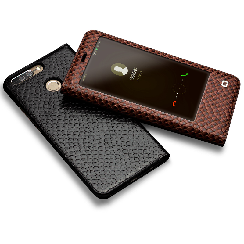 Image 2 - QIALINO Case for Huawei honor v9 Luxury Genuine Leather Ultrathin  Flip Cover for Huawei Honor V9 Sleep Wake Function Manual Bagcase for  huawei honorcase for huaweicase for