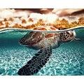 Картина по номерам DIY, дропшиппинг, 40х50, 50х65 см, погружение в черепаху, море, животное, холст, свадебное украшение, художественное изображение...