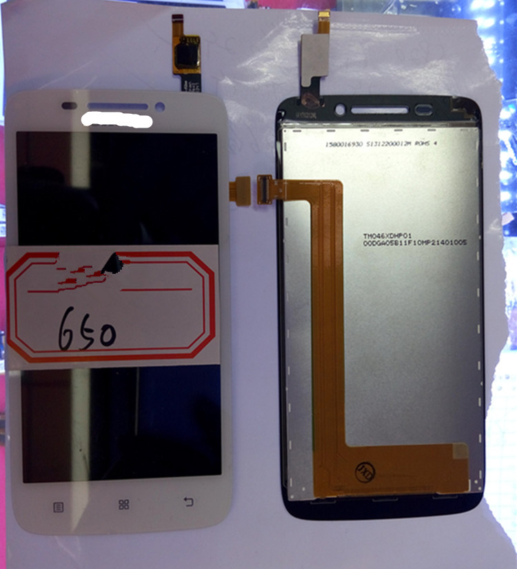 For Lenovo S650 LCD Display+Touch Screen Panel Digitizer Accessories For S650 Smartphone Free Shipping+Track Number a5860 lcd display touch screen panel with frame digitizer accessories for lenovo a5860 smartphone free shipping track number