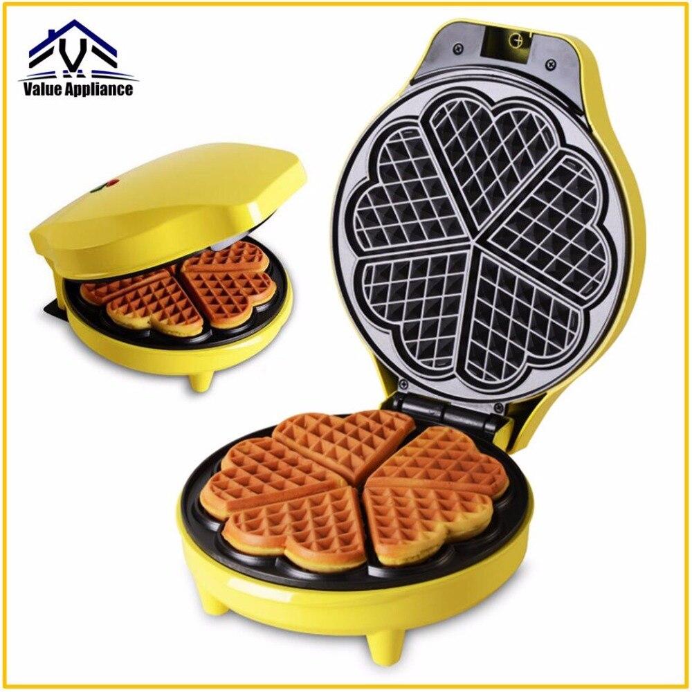 Heart Shape Waffle Maker Automatic Machine Muffin Toaster Household Non stick Bubble Waffle Breakfast Machine Baking Cake