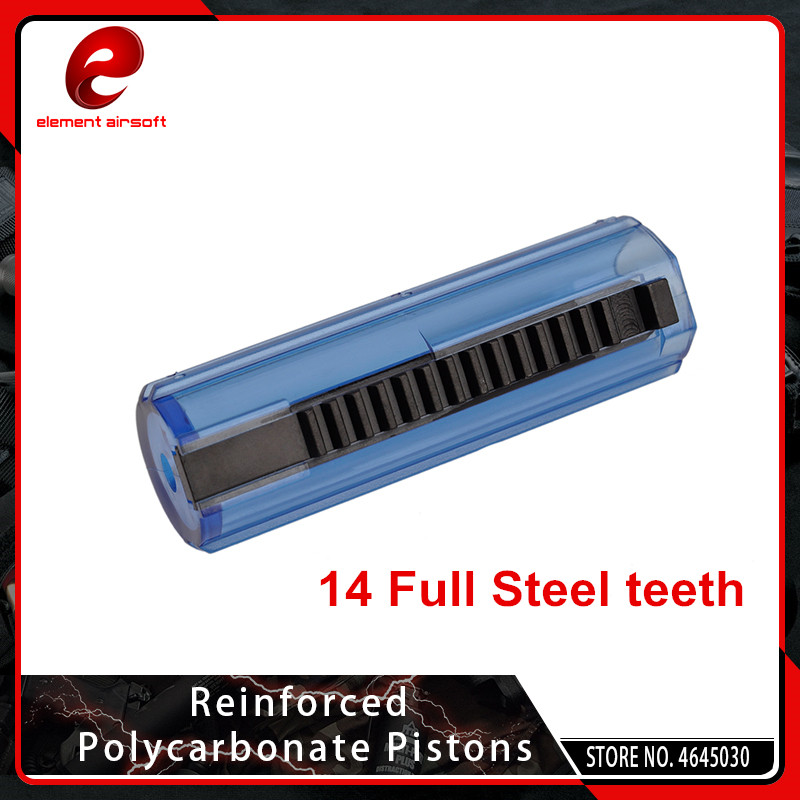 Element Full Steel 14 Teeth Piston For Airsoft AEG Gearbox Ver 2/3 Hunting Accessory GB03001
