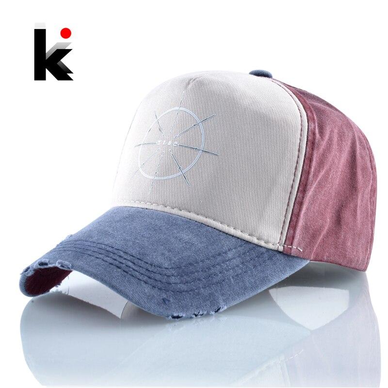 Cotton Dad Hats 2019 New   Baseball     Cap   Men Spring Summer Breathable Snapback Denim Hat For Women Fashion Hip Hop Bones Casquette
