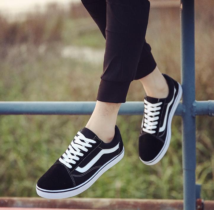 Corea Mujeres De Y Negro Nueva 2017 Casuales Pareja Zapatos Lona wxYFXq