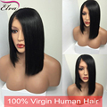 Silky Straight Short Bob Style Full Lace Human Hair Wigs 100% Brazilian Virgin Hair Lace Front Human Hair Wigs For Black Women
