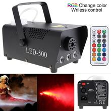 Wireless Control LED 500W Smoking RGB Color LED Fog Machine LED Fogger Stage Smoke Ejector with Indicate Light for Bar KTV Party цена 2017