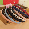 2016 New Fashion Multicolor Headband with Teeth Practical Cloth Hair Band for Women & Girls Hair Accessories Hairband Jewelry