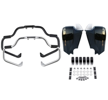 Motorcycle Mustache Engine Guard Bar Lower Fairing Kit For Indian Chieftain Classic Vintage 2014-2018 Dark Horse Limited