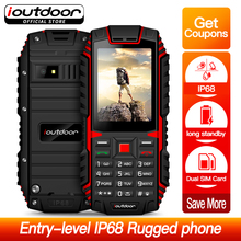 Ioutdoor T1 Sağlam Telefon 2G Özelliği IP68 Darbeye Su Geçirmez toz geçirmez Telefono 2.4 inç GSM Çift SIM Arka Kamera FM 2100 m...