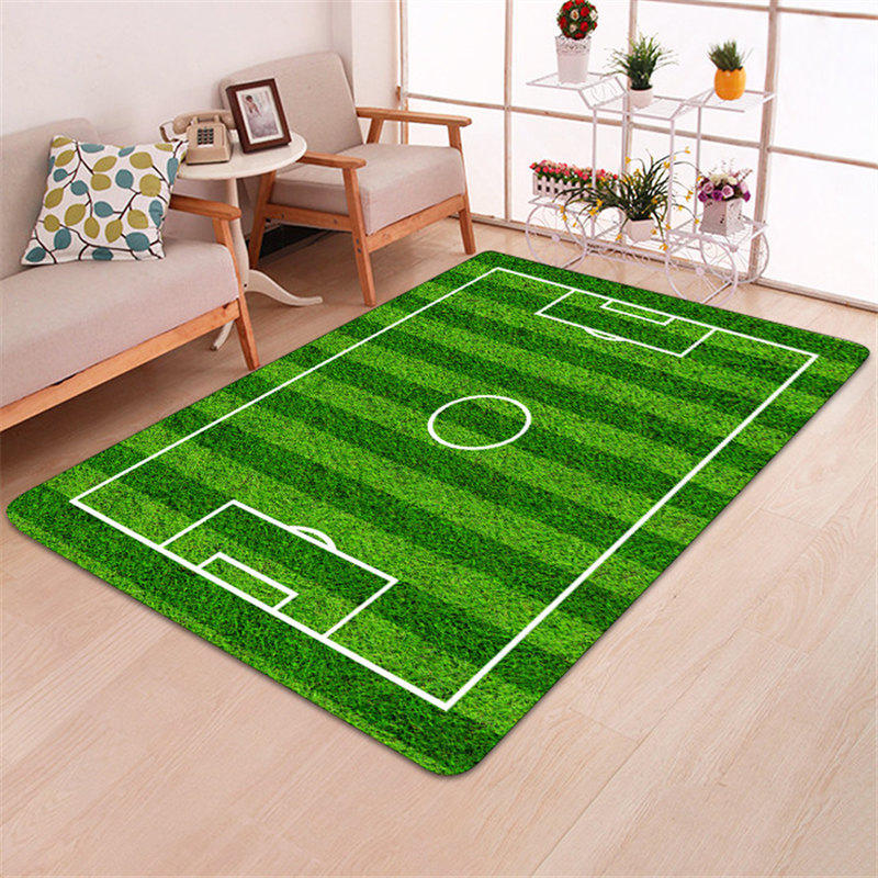 Home Furniture Diy Rugs Kids Rug Football Pitch Boys Bedroom Carpet Thick Soft Woven Child Play Room Mat Mtmstudioclub Com