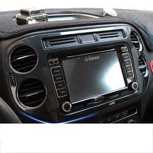 Lsrtw2017 углеродное волокно abs Приборная панель автомобиля навигационный экран Рамка вентиляционные планки украшения для volkswagen tiguan 2010