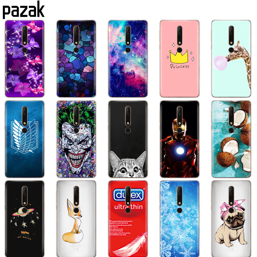 Silicone case for <font><b>Nokia</b></font> 6 <font><b>6.1</b></font> 7 plus 8 9 <font><b>nokia</b></font> 6 2018 x5 x6 case soft <font><b>tpu</b></font> back phone cover Coque bumper painting protective image