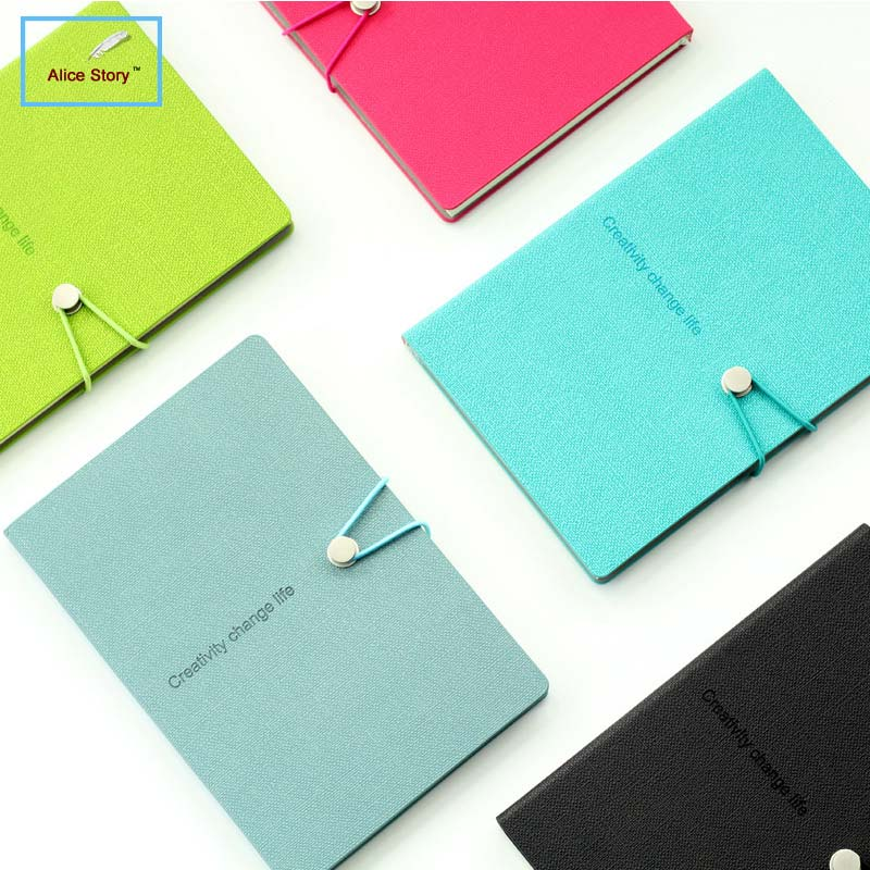 A5 Notebook Candy color Agenda Planner Organizer Diary with rope Gift Notepad Stationery Office School Supplies a5 a6 macaron spiral notebook with refill candy color loose leaf notepad planner diary girlfriend gift office school supplies