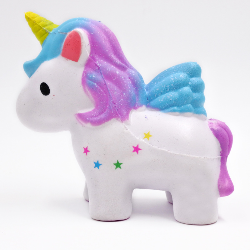 Galaxy Cute Kawaii Cartooon Unicorn Cream Scented Squeeze Star Horse Squishy Decompression Squeeze Toy Best Birthday Gifts