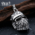 Beier 316L Stainless Steel pendant necklace Cool Cool Plated silver Cross Skull pendant Fashion Jewelry BP8-207