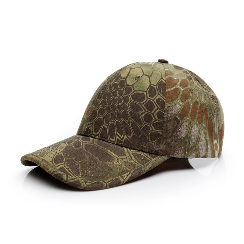 2018 camouflage outdoor   cap   The snake Pythons grain camouflage   baseball     caps   Men's tactical   cap   Hat For Men Gorras Hombre Bone