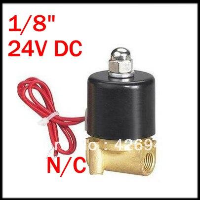 """5 шт. 24 В DC 1/"""" Нормально закрытый латунный магнитный клапан соленоидной воды 2W025-06"""