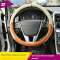 Proteção Ambiental preto Vermelho de Couro Preto de Camurça Tampa Da Roda de Direcção para volvo xc60 xc90 s40 v40 v60 2016