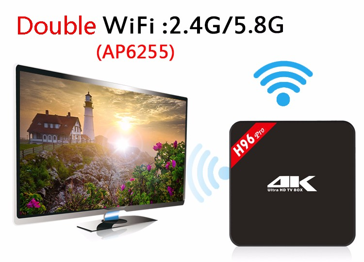 H96pro-newst S912 android 6.0 marshmallow tv box 2g_16g