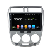 8 Core, 2G RAM, 32G ROM, 10.1 inch Android 6.0 Car DVD Player GPS Navigation System Media Stereo Audio for Honda City 2006-2013