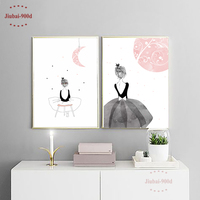 Watercolor Gilrs Canvas Art Print Poster Wall Pictures For Home Decoration Wall Art Decor CM022M