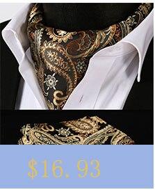 7d22daa1c9 ⊱RC205Z Brown trigo compruebe seda cravat tejido Ascot tie Pocket ...