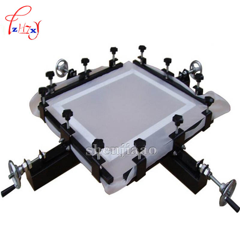 High Precision 24 x24 Screen Stretching Manual Screen Machine Printiing Stretch Silk screen net machine