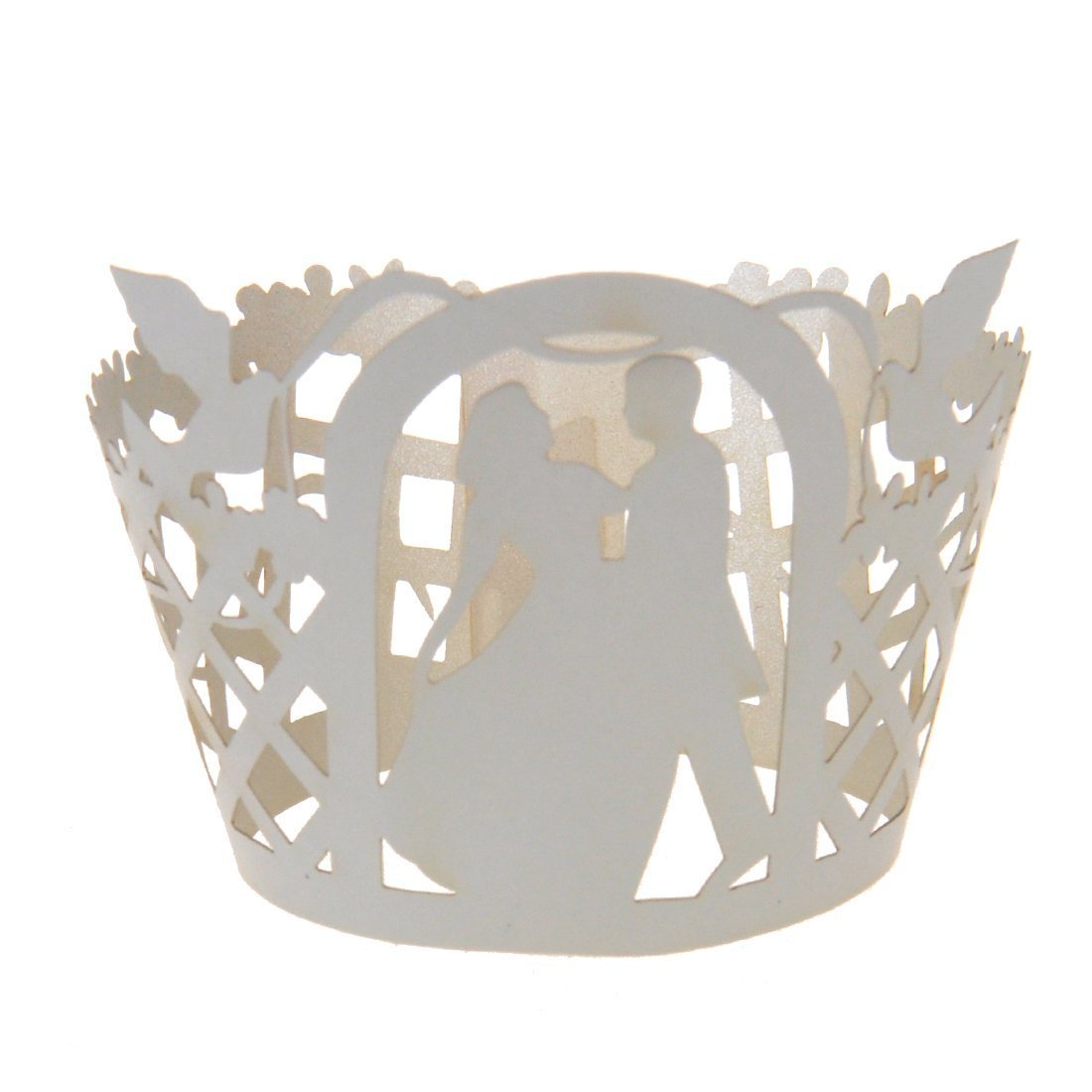 METABLE PACK OF 50 Bride Groom Muffin Cup Cake Wrapper Case Wedding Party Liner Decoration