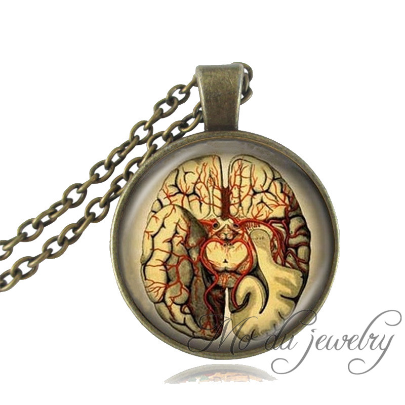Online Shop Anatomical brain necklace anatomy jewelry vintage ...