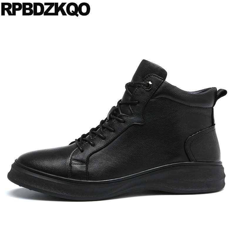 Black Super Warm Winter Boots Russian Style Full Grain Men Fashion Trainer Sneakers High Top Genuine Leather Booties Fur Shoes black super warm winter boots russian style full grain men fashion trainer sneakers high top genuine leather booties fur shoes